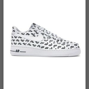 Air Force 1 QS 07 embossed logo all over